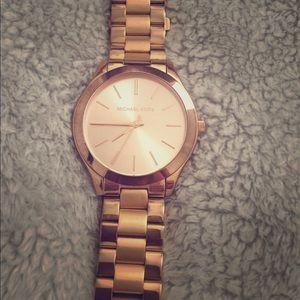 Michael Kors Unisex RoseGold Stainless Steel Watch